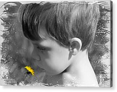 Gentleness Of A Child Acrylic Print