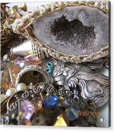 Geode To Beads Acrylic Print by Jaime Neo