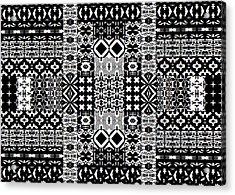 Geometric Abstract In Mono Acrylic Print