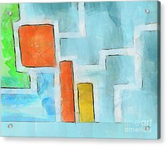 Geometric Abstract Acrylic Print by Pixel Chimp