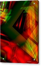 Geometric Art In Light Colors With Transparency Acrylic Print by Mario Perez