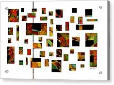 Geometric Design - Abstract - Art Acrylic Print by Ann Powell
