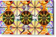 Geometric Dreamland Acrylic Print by Derek Gedney