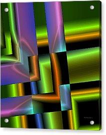 Geometric Electric Effect Acrylic Print by Mario Perez