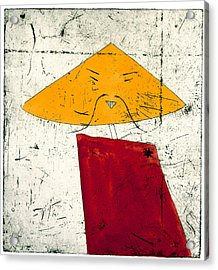 Geometric Figure With Face Acrylic Print by Tim Southall