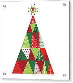 Geometric Holiday Trees I Acrylic Print by Michael Mullan