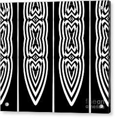 Pattern Geometric Black White Art No.337. Acrylic Print by Drinka Mercep