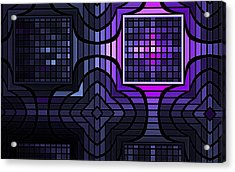 Acrylic Print featuring the digital art Geometric Stained Glass by GJ Blackman