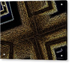Geometric Texture And Brown Acrylic Print by Mario Perez