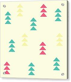 Geometric Triangles, Seamless Pattern Acrylic Print