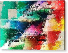 Acrylic Print featuring the digital art Geometric Warm And Cool by Lon Chaffin