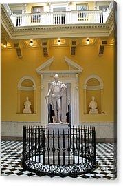 Georg Washington Statue - Capitol Richmond Acrylic Print by Christiane Schulze Art And Photography