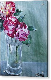 George Burns Roses Acrylic Print by Melissa Torres