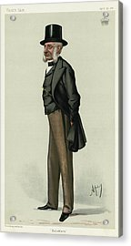 George Charles Bingham 3rd Earl Acrylic Print by Mary Evans Picture Library
