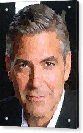 George Clooney Portrait Acrylic Print