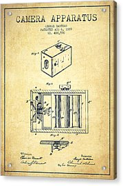 George Eastman Camera Apparatus Patent From 1889 - Vintage Acrylic Print