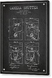 George Eastman Camera Shutter Patent From 1892 - Dark Acrylic Print