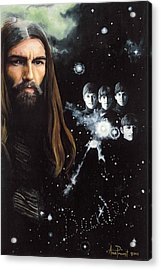 George Harrison And The Beatles Acrylic Print by Anne Provost