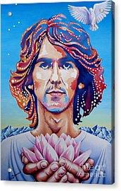 George Harrison Acrylic Print by Debbie  Diamond