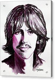 George Harrison Acrylic Print by Maria Barry