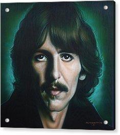 George Harrison Acrylic Print by Timothy Scoggins