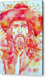 George Harrison With Hat Acrylic Print by Fabrizio Cassetta