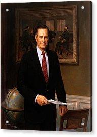 George Hw Bush Presidential Portrait Acrylic Print
