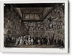 George IIi. And The Royal Family At The Private View Acrylic Print