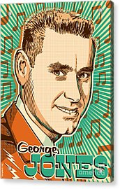 George Jones Pop Art Acrylic Print