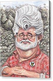 George Lucas Acrylic Print by Mark Tavares