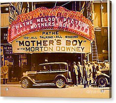 George M. Cohan Theatre In New York City In 1929 Acrylic Print by Dwight Goss