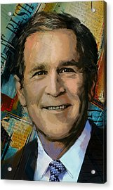 George W. Bush Acrylic Print by Corporate Art Task Force