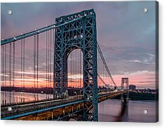 George Washington Bridge At Twilight Acrylic Print