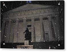 Acrylic Print featuring the photograph George Washington Federal Hall by Robert  Moss