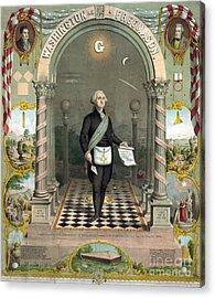 George Washington Freemason Acrylic Print by Photo Researchers