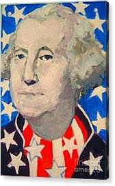George Washington In Stars And Stripes Acrylic Print