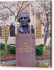 George Washington University Bust 1958 Acrylic Print
