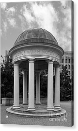George Washington University Kogan Plaza Acrylic Print by University Icons