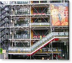 Georges Pompidou Centre Acrylic Print by Oleg Zavarzin