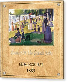 Georges Seurat 2 Acrylic Print by Andrew Fare