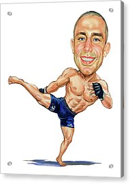 Georges St. Pierre Acrylic Print by Art