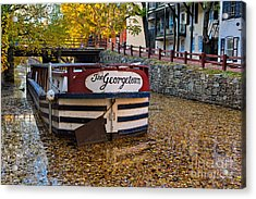 Georgetown Barge Acrylic Print