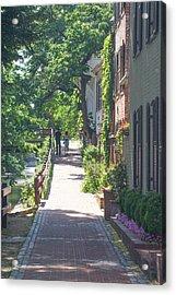 Georgetown Canal Walk Acrylic Print by David Nichols