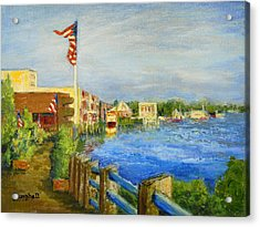 Georgetown Harbor Acrylic Print by Cecelia Campbell
