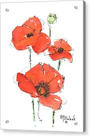 Georgetown Texas The Red Poppy Capital Acrylic Print