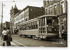 Georgetown Trolley E Market St Wilkes Barre Pa By City Hall Mid 1900s Acrylic Print