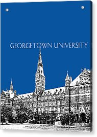 Georgetown University - Royal Blue Acrylic Print by DB Artist