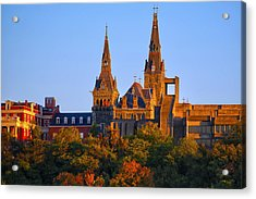 Georgetown University Acrylic Print by Mitch Cat
