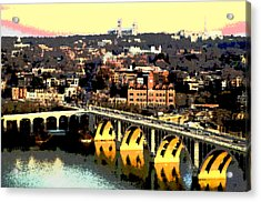 Georgetown Washington Dc Acrylic Print by Charles Shoup