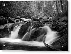 Georgia Mountain Water In Black And White Acrylic Print
